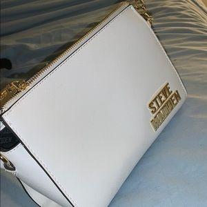 White Steve Madden purse never used